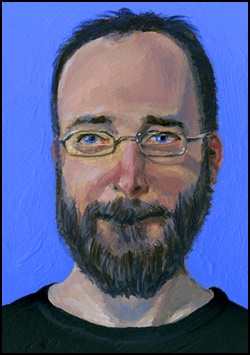 Here's and example of a portrait in acrylic paint