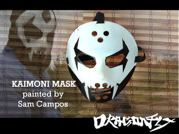 Kaimoni Mask painted by Sam Campos