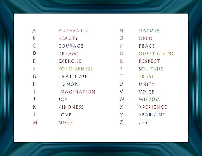 Alphabet Living: A book inspiring heart & meaning from A–Z