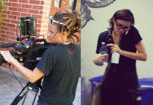 Vanessa Smith - our Gaffer and 2nd Unit DP and Rebecca Sirmons - our Line Producer