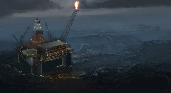 Concept Art for an Oil Platform Assault Map