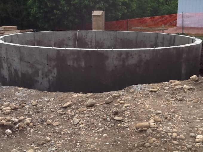 The concrete walls