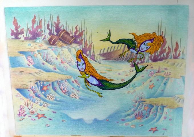 """""""Mermaids"""" Cel from Eyeglass series"""