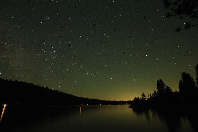 Stars over Pinecrest Lake