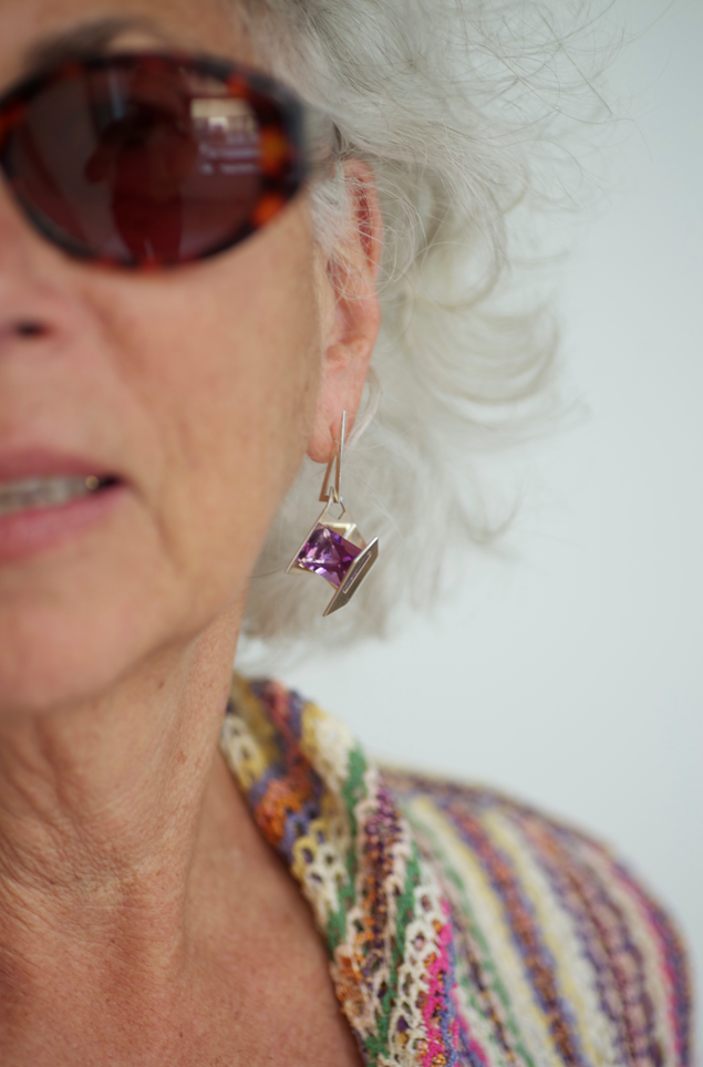 Fireworks Earring with Amethyst