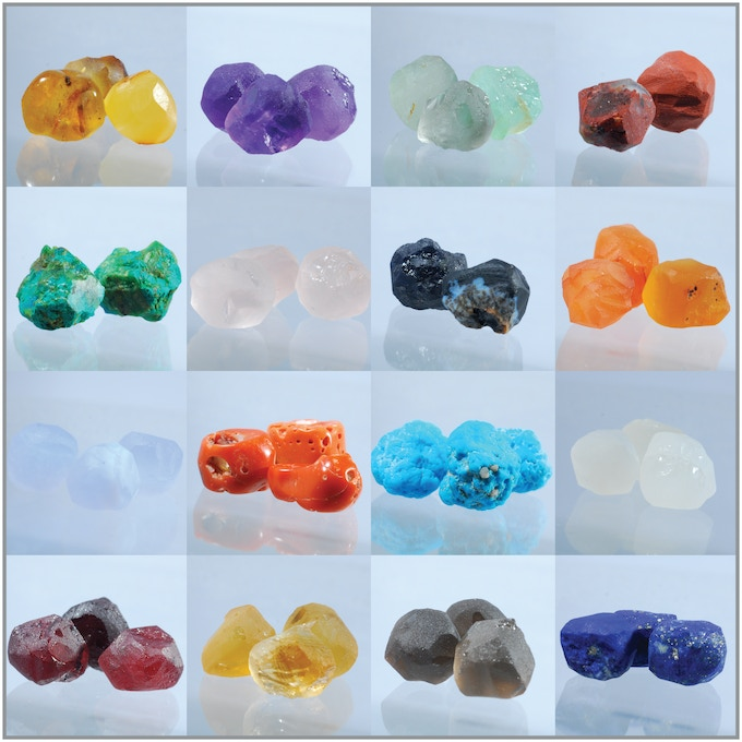 Rough cut gem stones (wide birthstone selection is available)