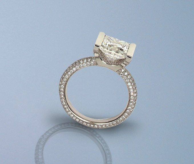 Custom Engagement Ring, designed and made by Elena