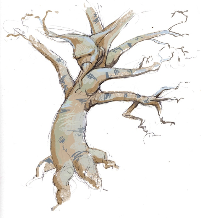 Cardagas - an ornery tree from the North Woods in Quest For Infamy