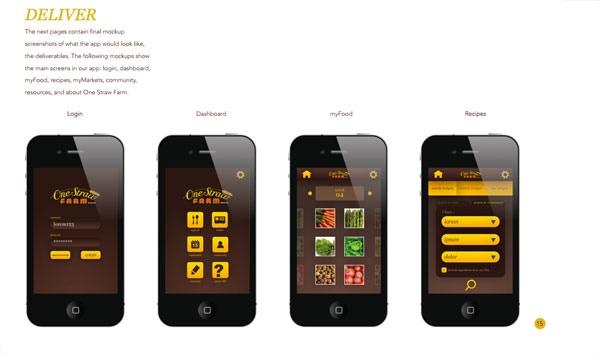 Visual design explorations for the CSA (consumer) app.