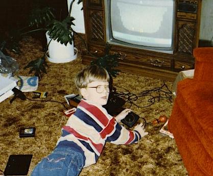 David Webb and his pal E.T.