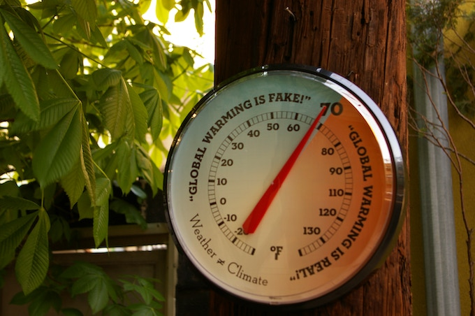 Climate Thermometer in its natural habitat.