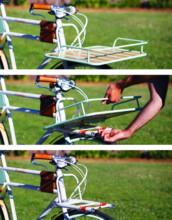 Faraday's cargo rack is interchangable...or completely optional.