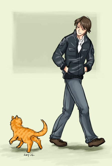 Print 2 - Peter and the curious cat
