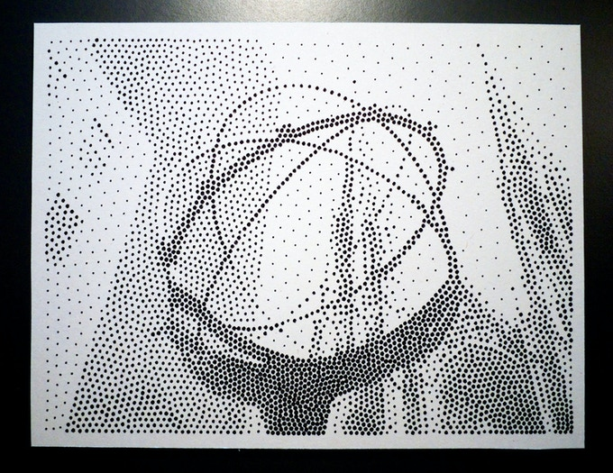 Here is a plotter print we did from a photo Jenna took in Barcelona.