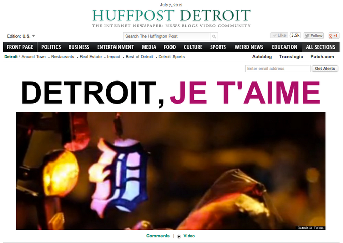 The Huffington Post featured us on the front page on 07/07/12