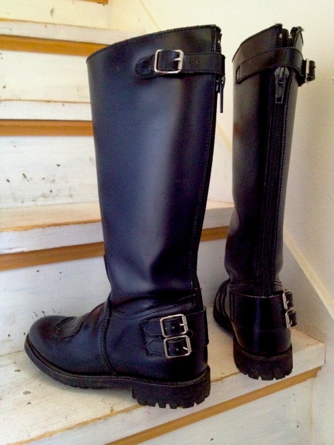 MOTO BOOTS worn by RUTH MENARD in the lead role of KAT