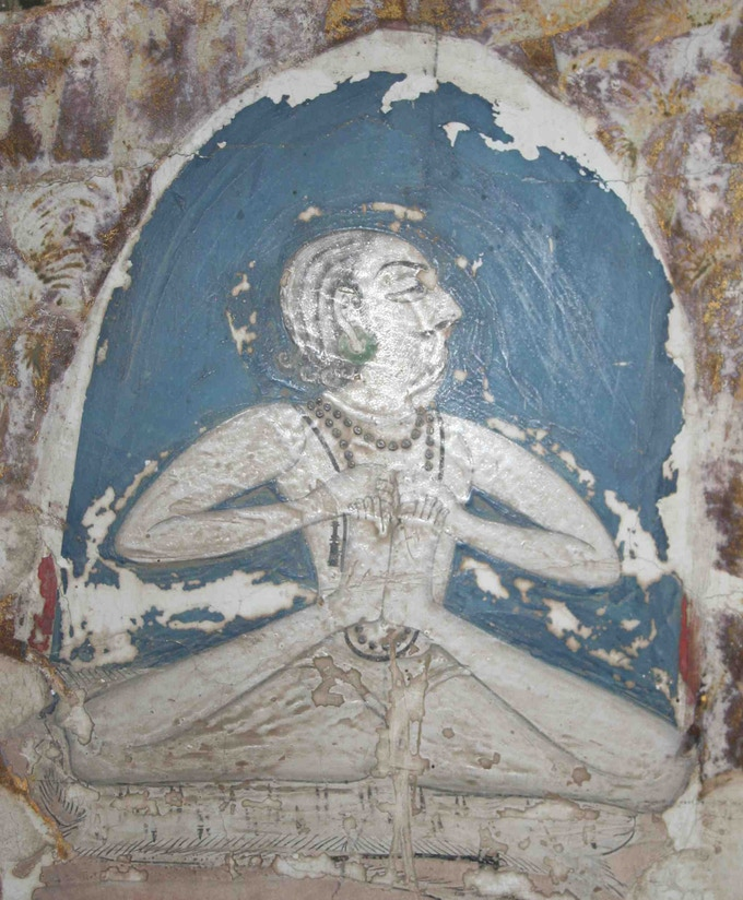 Yogi mural on wall of Mahamandir, Jodhpur, c.1820