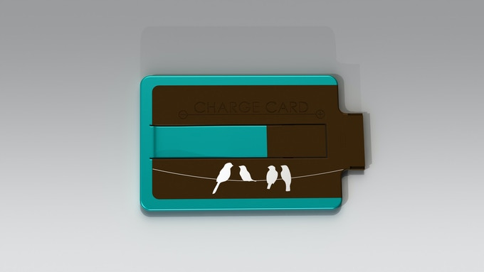 "Limited Edition ""Birds on Wire"" ChargeCard"