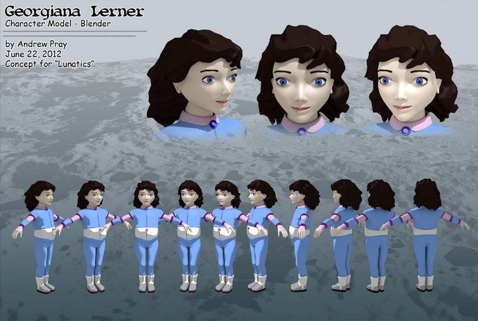 Georgiana Lerner Character Model by Andrew Pray