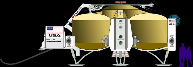 LTS Lander (Plan-Starboard) by Terry Hancock