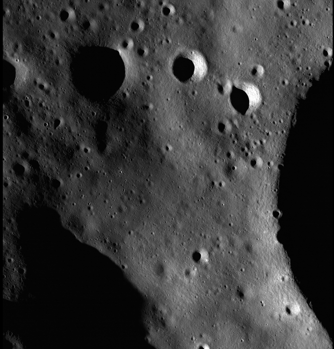 """Half-meter scale images like this one from Lunar Reconnaissance Orbiter's narrow-angle camera have allowed us to get very accurate information about the region where """"Lunatics"""" is set!"""