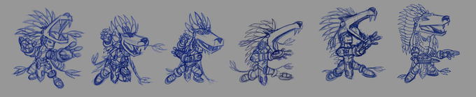 Rough PolerBear Shaman animation before cleanup.