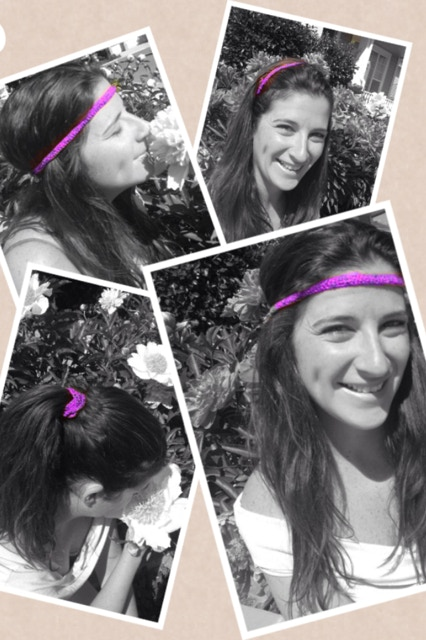 Our pink Versaband- your most versatile accessory!