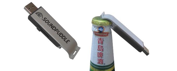 8GB USB bottle opener