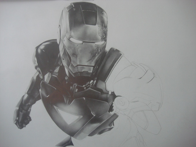 Quick glance at an unfinished Iron Man