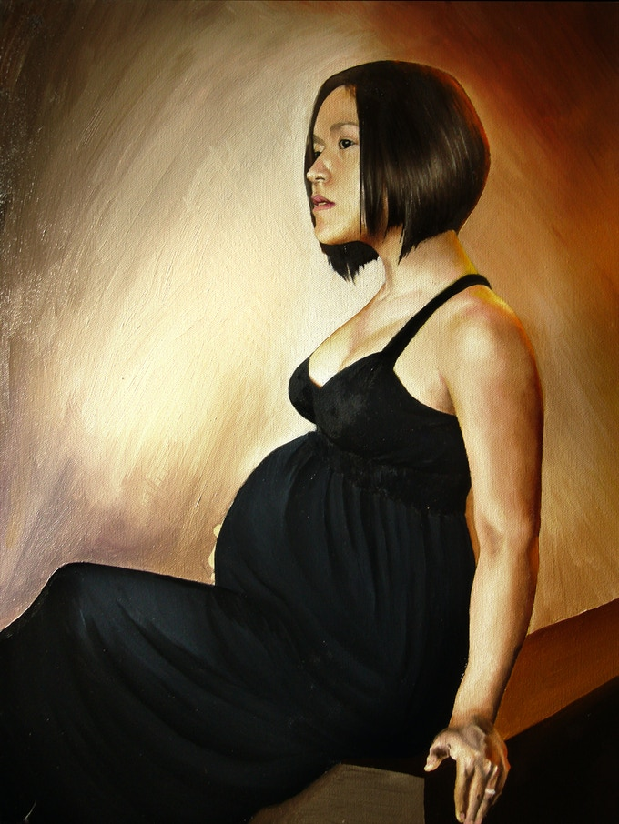 Example of an Oil Painting Portrait