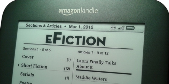 What the magazine looks like for Kindle subscribers.