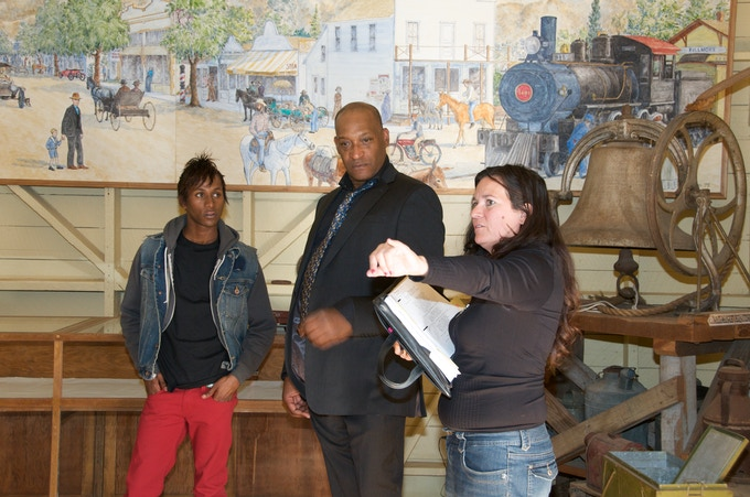 Kimberly directing Tony Todd on the set of the award winning film, JACK THE REAPER.