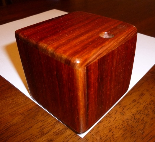 Cocobolo is currently offered in several sizes, a 3 inch maze at $110.00 each and more challenging 3.5 and 5 inch mazes with multiple entrances and exits begin at $175.00 and $450.00 each respectively.