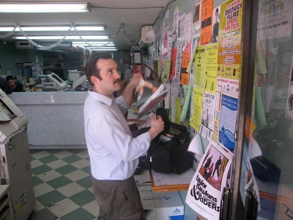 "Actors at Work: Bill Coelius in ""Poster Distributor"""