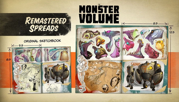 Plus remastered versions of our sold out sketchbook series!