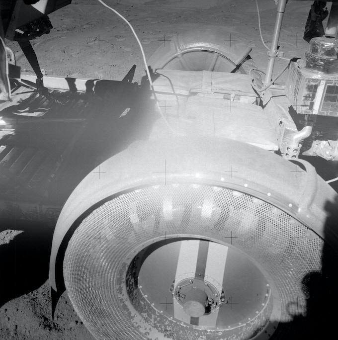Challenges with lunar regolith, Apollo 15 LRV (image courtesy of NASA)