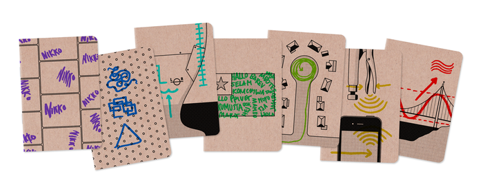 99% Invisible's pocket notebook series of rewards.