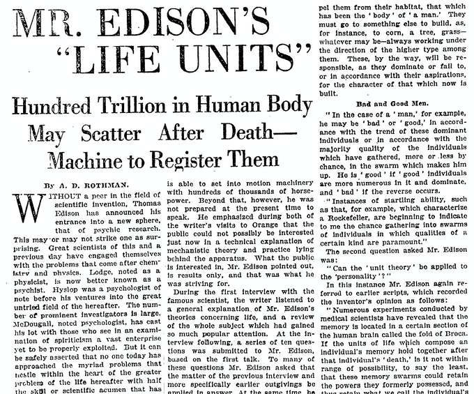 """Excerpt from """"The New York Times"""" January 23, 1921"""