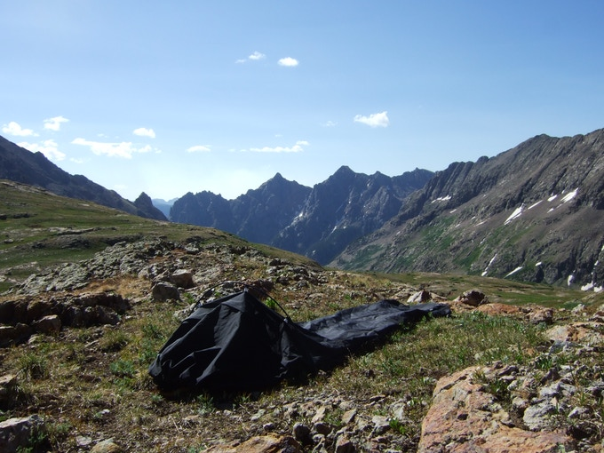 Testing the Alpine Hammock above 12,000ft in Columbine Pass, Colorado