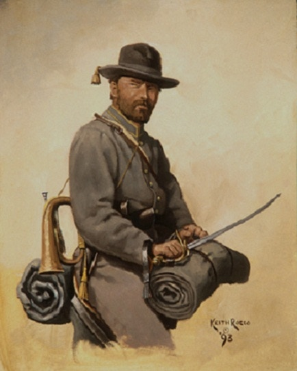 Confederate Cavalry Bugler