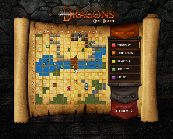 Dragons Gameboard