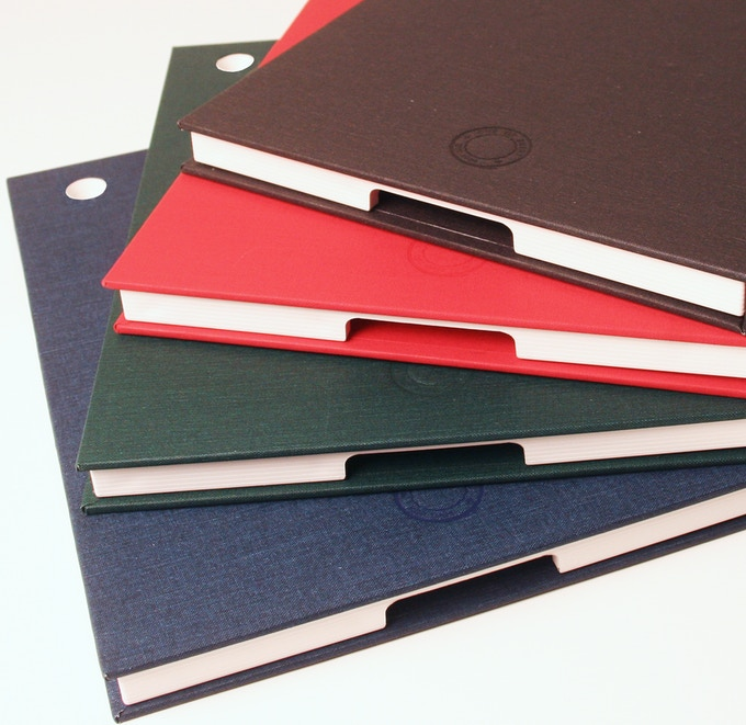 Solid color options (from top to bottom): charcoal, red, evergreen, indigo