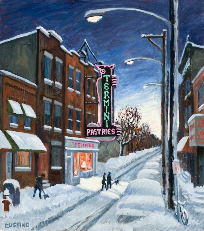 "Termini's Bakery, oil on canvas 26x18"" (see $1500 pledge reward)"