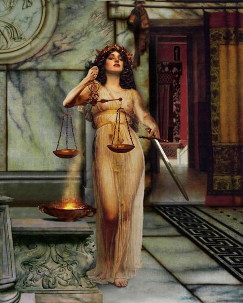 Justitia, Roman Goddess of Justice