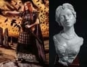 54mm Bodbh With Cairn & Katherine Elegant Lady Bust