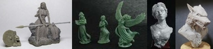 54mm Kreimhild's Revenge Set & 3 Figure Swan Maiden Set & Katherine, Elegant Lady Bust & Werewolf Bust