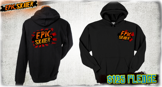Epic Skater Logo Hoodie available in S, M, L, XL, XXL