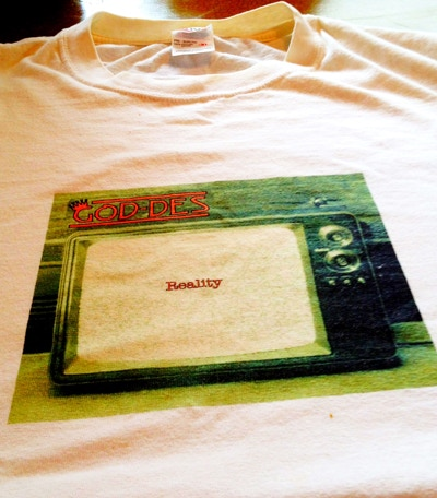 """PICTURE 3: ONLY 1 AVAILABLE! THE ONE AND ONLY """"REALITY"""" T SHIRT EVER PRINTED! WORN BY GOD-DES ON NUMEROUS OCCASIONS, MEN'S SIZE XL, ALL COTTON"""