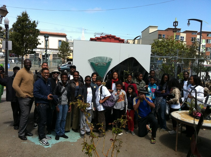 School students studying placemaking and design visit us!