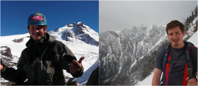 Ryan Stolp (left, Patagonia) and Mike Brown (right, Mount Washington)